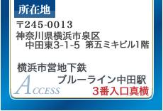 横浜市営地下鉄ブルーライン中田駅 3番入口真横
